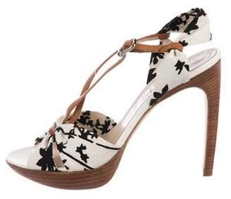 Celine Canvas Ankle Strap Sandals