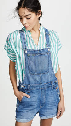 3bc7fecc9d80 Madewell Adirondack Short Overalls in Denville Wash