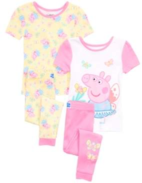 Peppa Pig Care Bears Toddler Girls 4-Pc. Cotton Pajama Set