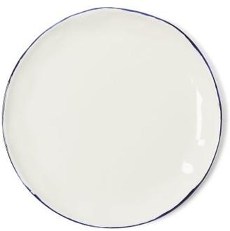 Feldspar - Painted Rim Fine China Cake Plate - Blue White