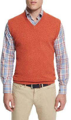 Peter Millar Cashmere V-Neck Sweater Vest $245 thestylecure.com