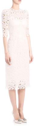 Dolce & Gabbana Organza Lace Sheath Dress