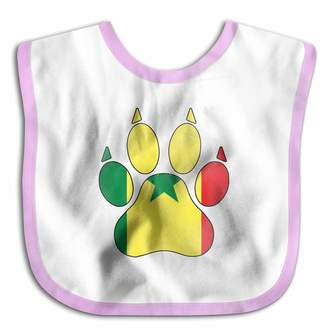 QZLG&DLP-53 Senegal Flag Dog Paw Baby Boys & Girls Drool Bibs - Soft And Hypoallergenic