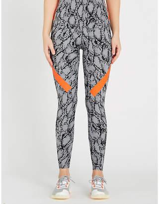 adidas by Stella McCartney Alphaskin snakeskin-print stretch-jersey leggings