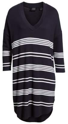 PRESS Stripe High/Low Shift Dress