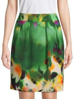 Akris Floral Pencil Skirt