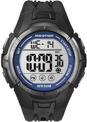 Timex Marathon by Men's Digital Full-Size Watch, Black Resin Strap