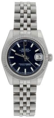 Rolex Datejust Jubilee 178274 Midsize Stainless Steel Blue Stick Dial 31mm Watch