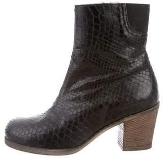 MM6 MAISON MARGIELA Leather Round-Toe Boots