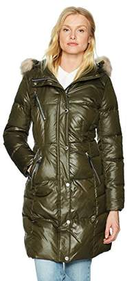 """Andrew Marc Women's Leigh 37"""" Lacquer Puffer Jacket"""