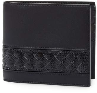 Bottega Veneta Men's Leather Foldover Wallet
