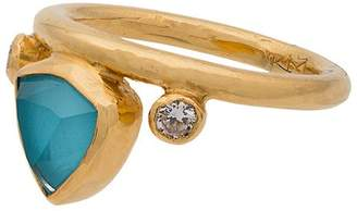 Katerina Makriyianni Turquoise Gold Crown Ring