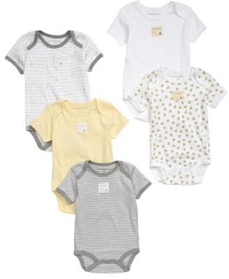 Burt's Bees Baby 5-Pack Organic Cotton Bodysuits