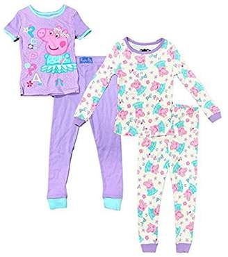 Peppa Pig Toddler Girls' Ballerina 4 Piece Cotton Pajama Set
