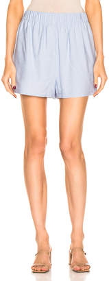 Tibi Pull On Short in Chambray Blue | FWRD