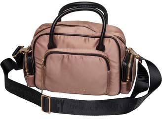Juicy Couture Juicy By Womens Cypress Mini Multi Pocket Bowler Bag Rose Satin