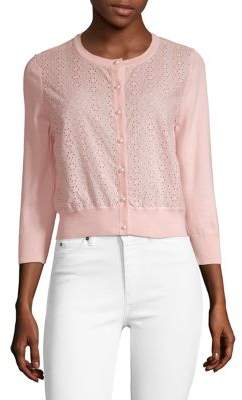Karl Lagerfeld Paris Lace Buttoned Cardigan