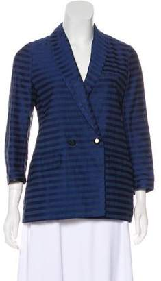 MAISON KITSUNÉ Striped Shawl-Lapel Blazer