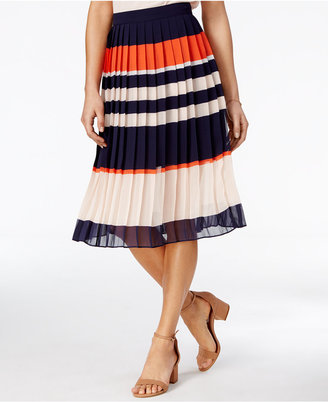Maison Jules Pleated Rugby-Stripe Skirt, Only at Macy's $69.50 thestylecure.com