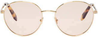 Victoria Beckham Gold Metal Panto Sunglasses