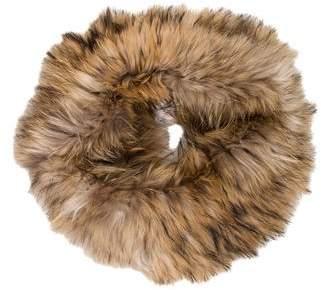 Yves Salomon Knitted Fur Snood
