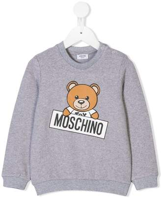 Moschino Kids teddybear logo print sweatshirt