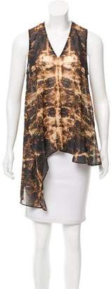 Kimberly Ovitz Sheer Printed Top