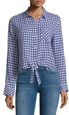 Rails Val Gingham Tie-Front Shirt