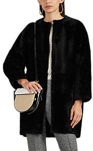 Barneys New York Women's Collarless Fur Jacket - Black