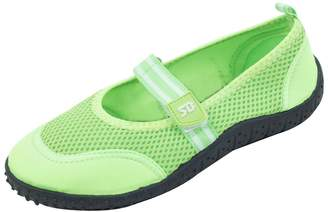 sunville New Women's Slip-On Water Shoes Aqua Socks With Velcro Strap Available In 4 Colors