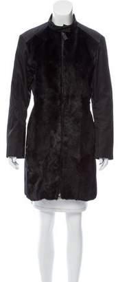 Prada Sport Fur-Accented Knee-Length Coat