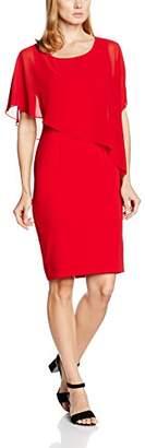 Gina Bacconi Women's Chiffon Cape and Crepe Dress