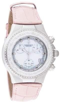 Technomarine Techno Marine Diamond Bezel Strap Watch