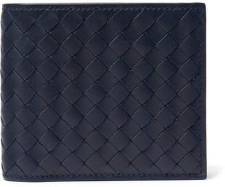 Bottega Veneta Intrecciato Leather Billfold Wallet - Navy