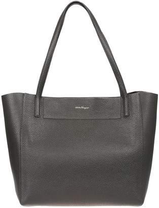 874813c16b11 Salvatore Ferragamo Black Open Top Handbags - ShopStyle