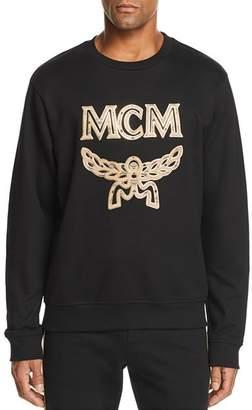 MCM Metallic-Trimmed Logo Sweatshirt
