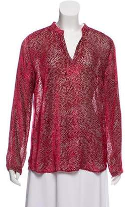 Massimo Alba Patterned Long Sleeve Top