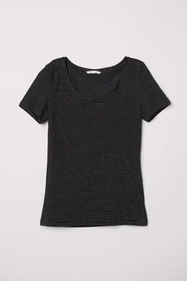 H&M Jersey Top - Black