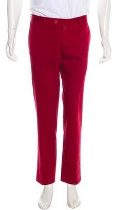 Isaia Flat Front Chino Pants