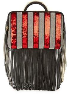 The Volon Bon-Bon Sequin Tassel Clutch Bag