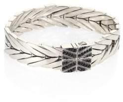 John Hardy Modern Chain Black Sapphire, Black Spinel& Silver Bracelet