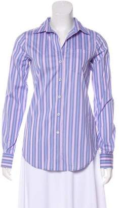 Theory Stripe Button-Up Top