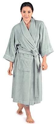 TexereSilk Women's Luxury Terry Cloth Bathrobe - Bamboo Viscose Robe by Texere (Ecovaganza