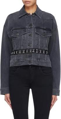 3x1 Detachable hook-and-eye hem oversized denim jacket