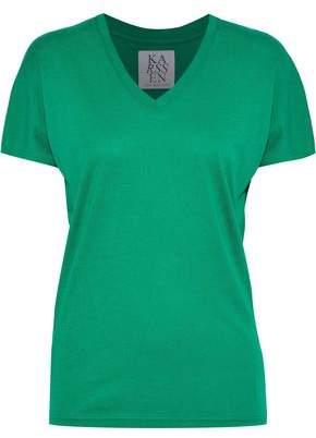 Zoe Karssen Printed Modal And Cotton-Blend Jersey T-Shirt
