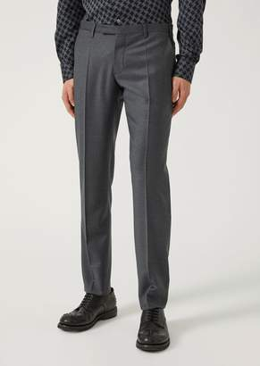 Emporio Armani Stretch Virgin Wool Trousers