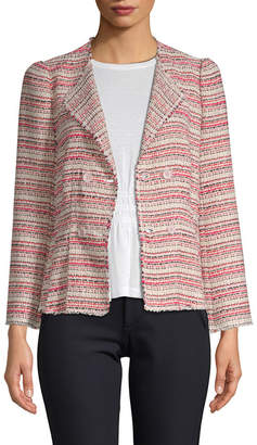 Rebecca Taylor Striped Tweed Blazer
