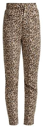 Rebecca Taylor Leopard Print Slim Leg Trousers - Womens - Animal