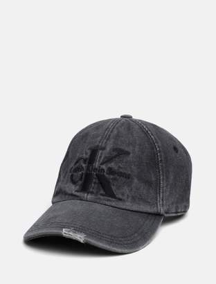 Calvin Klein monogram logo denim hat