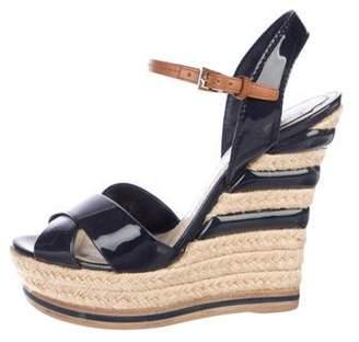 Christian Dior Patent Leather Platform Wedges